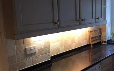 Kitchen doors re-painted